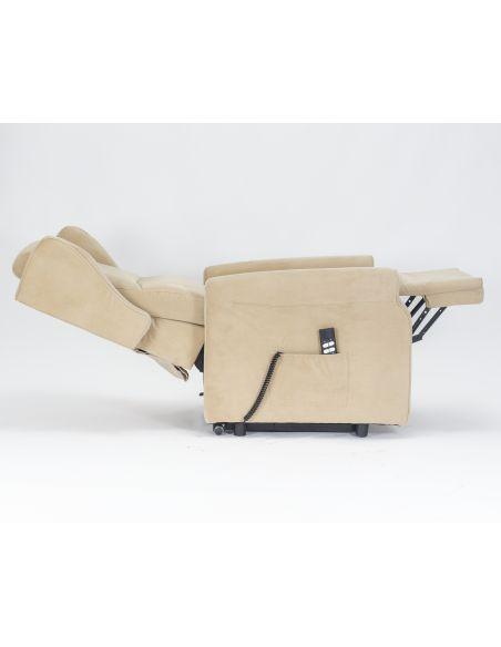 Bob Poltrona reclinabile 2 motori alzapersona movimento schiena/piedi indipendenti seduta indeformabile comode orecchie laterali
