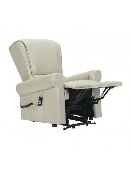Sorrento Poltrona relax con alzapersona e reclinazione indipendente. Rivestimento in pelle IT