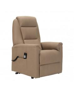 Tivoli Poltrona elettrica alzapersona con reclinazione indipendente. Rivestimento in microfibra pelle d'elefante IT
