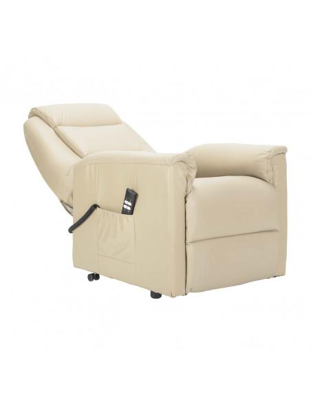 Tivoli in pelle Poltrona elettrica alzapersona con reclinazione indipendente. Rivestimento in pelle IT