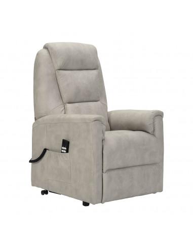 Tivoli Small Poltrona elettrica alzapersona con reclinazione indipendente. Rivestimento in microfibra pelle d'elefante IT