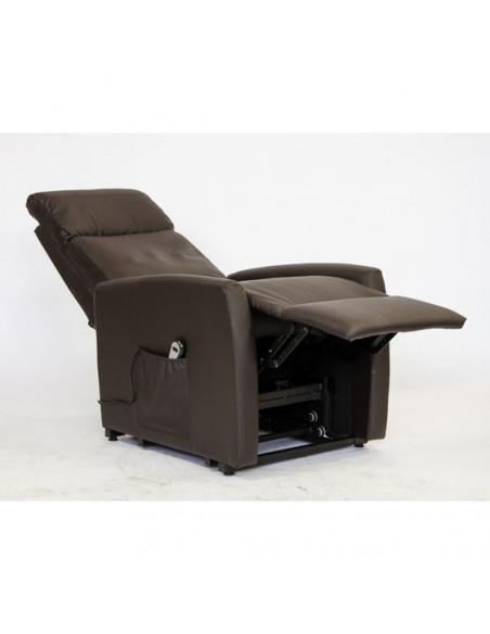 Helsinki Poltrona relax elettrica con alzapersona e reclinazione combinata. Rivestimento in ecopelle IT