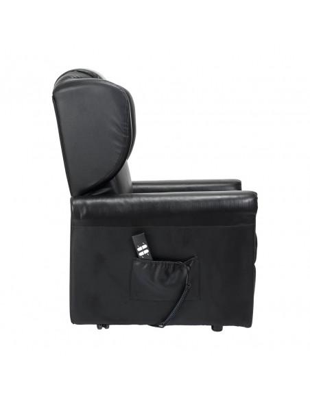 MAGICA MEDIA in PELLE Poltrona elettrica per anziani con alzapersona e reclinazione indipendente FR