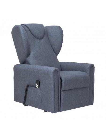 Poltrona reclinabile 2 motori, alzapersona, seduta indeformabile, comoda orecchie laterali, antimacchia, mis. media IVA4%