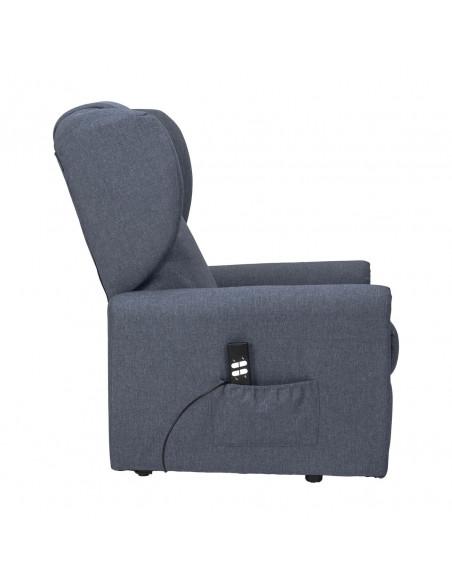 Importante Poltrona reclinabile 2 motori, alzapersona, seduta indeformabile, comoda orecchie laterali, antimacchia, small IVA4%