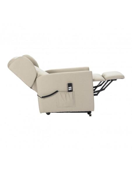 Poltrona relax 2mot schienale/pediera indipendenti, largh. 58cm passa tutte le porte, comode orecchie laterali antimacchia IVA4%