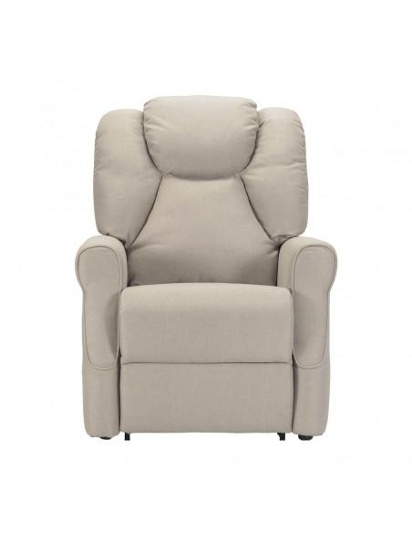 Poltrona alzapersona 1 mot, schiena/piedi combinata pediera anticipata, schienale soffice, seduta indeformab, antimacchia IVA4%