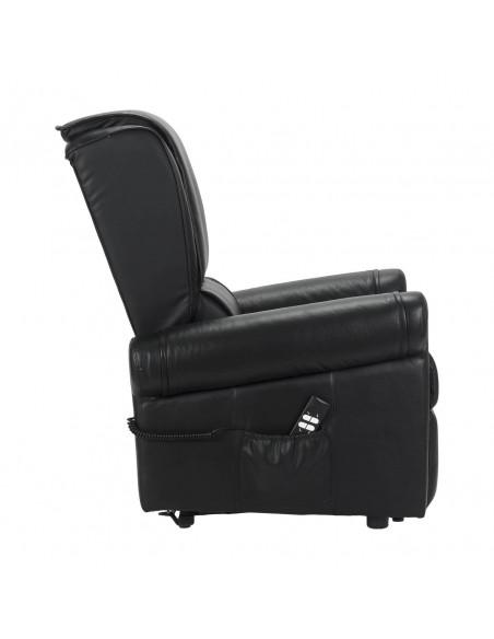 Poltrona relax in pelle. alzapersona, 2 mot movimento schiena/piedi indipendenti, zero gravity, seduta indeformabile IVA 4%