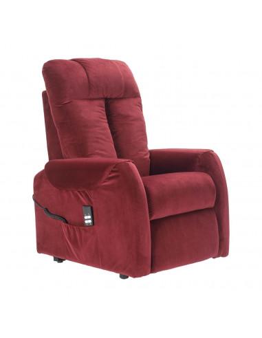 Poltrona elettrica 2 motori, reclinazione indipendente, schienale soffice, velluto superior morbido, seduta indeformabile