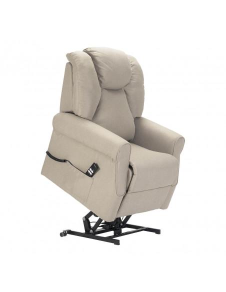 Poltrona relax 2 mot schienale/pediera indipend, alzapersona, schienale soffice, seduta indeformabile, tessuto antimacchia IVA4%
