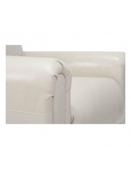 Importante Poltrona reclinabile 2 motori, alzapersona, seduta indeformabile, comoda orecchie laterali, in pelle, mis. media