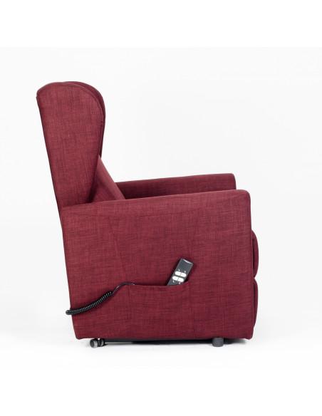 Poltrona alzapersona, reclinabile 2 motori indipendenti, seduta indeformabile, comode orecchie laterali, spesa detraibile IVA4%