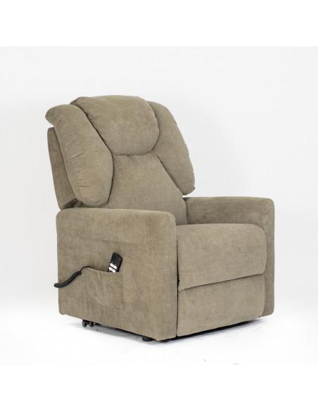 Poltrona relax 2 motori, schienale/pediera indipend., alzapersona, schienale soffice, seduta indeformabile, dormire comodo