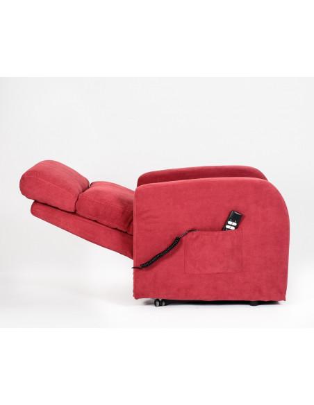 Poltrone relax alzapersona, reclinabile fino a pos. letto, 100% sfoderabile lavabile, seduta indeformabile. 2 mot. 120kg max