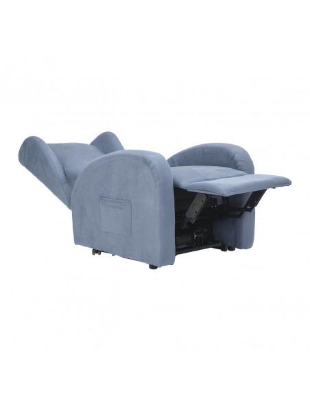 Poltrona elettrica alzapersona, reclinabile 2 motori indipendenti, seduta indeformabile, orecchie laterali, spesa detraibile 19%