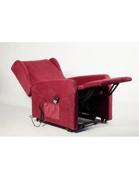 Poltrona elelttrica 2mot schiena/piedi indipendenti, schienale seduta braccioli in memory antidecubito tessuto antimacchia IVA4%